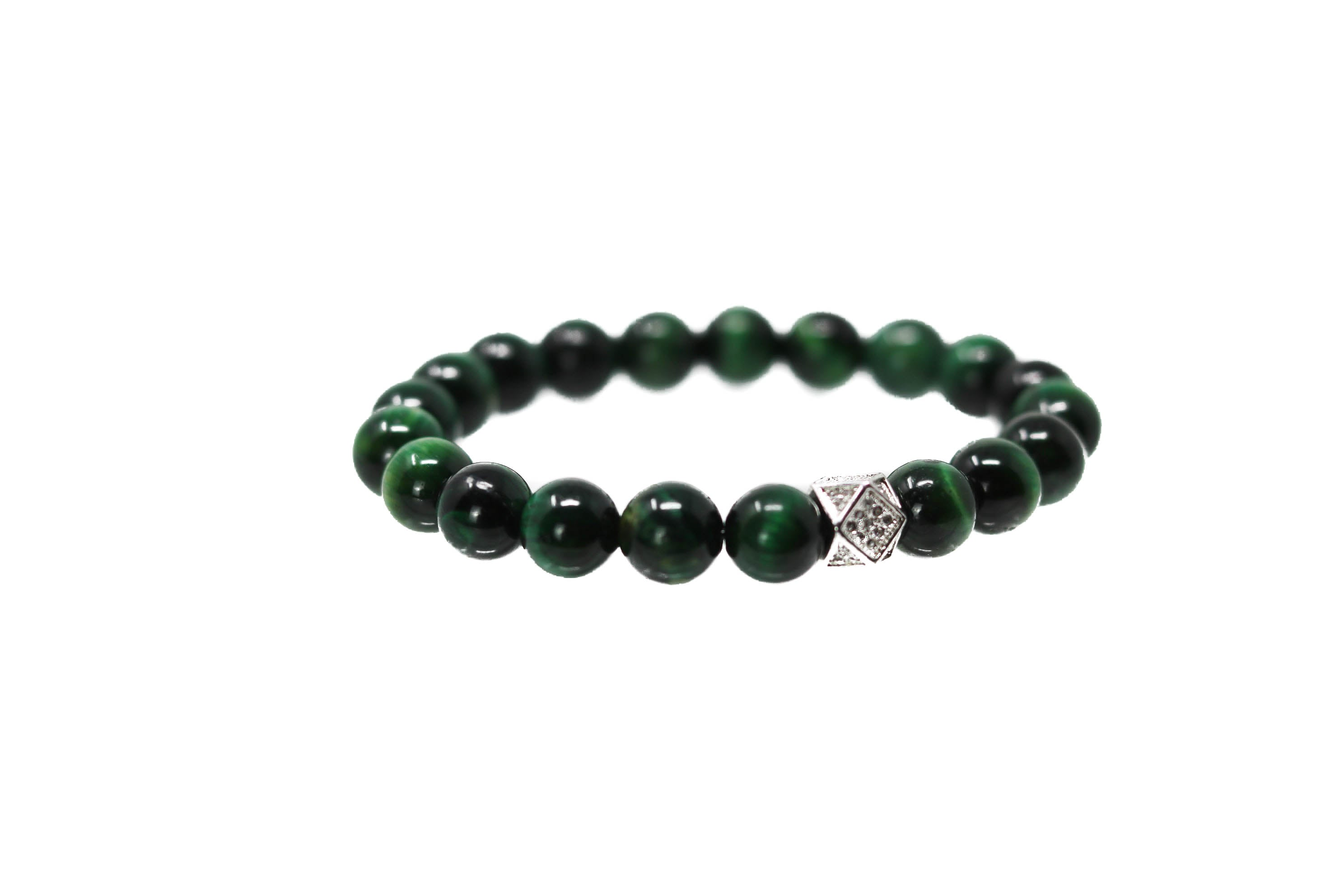 Emerald Silver Green Beads