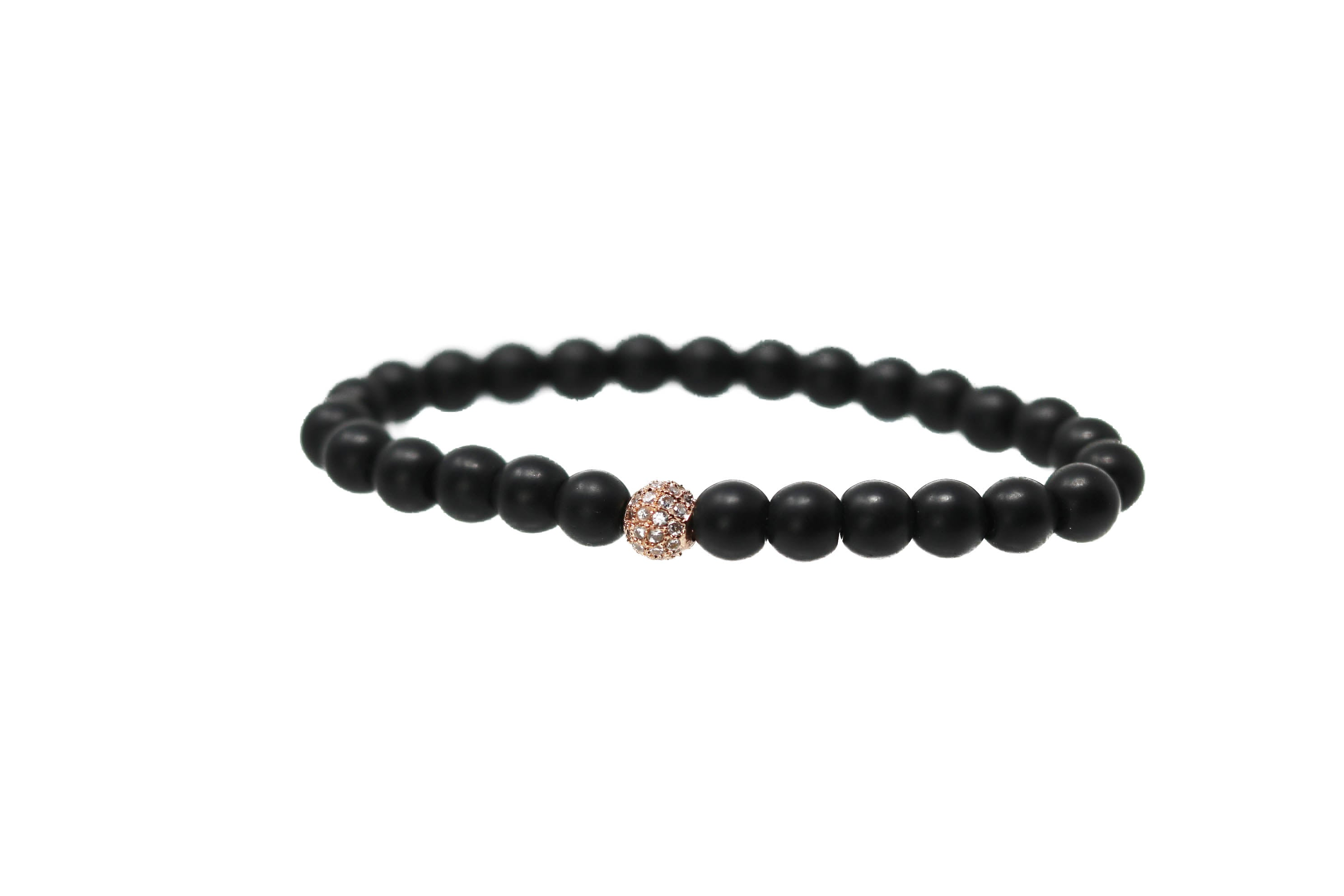Black Rose Rose Gold Bracelet