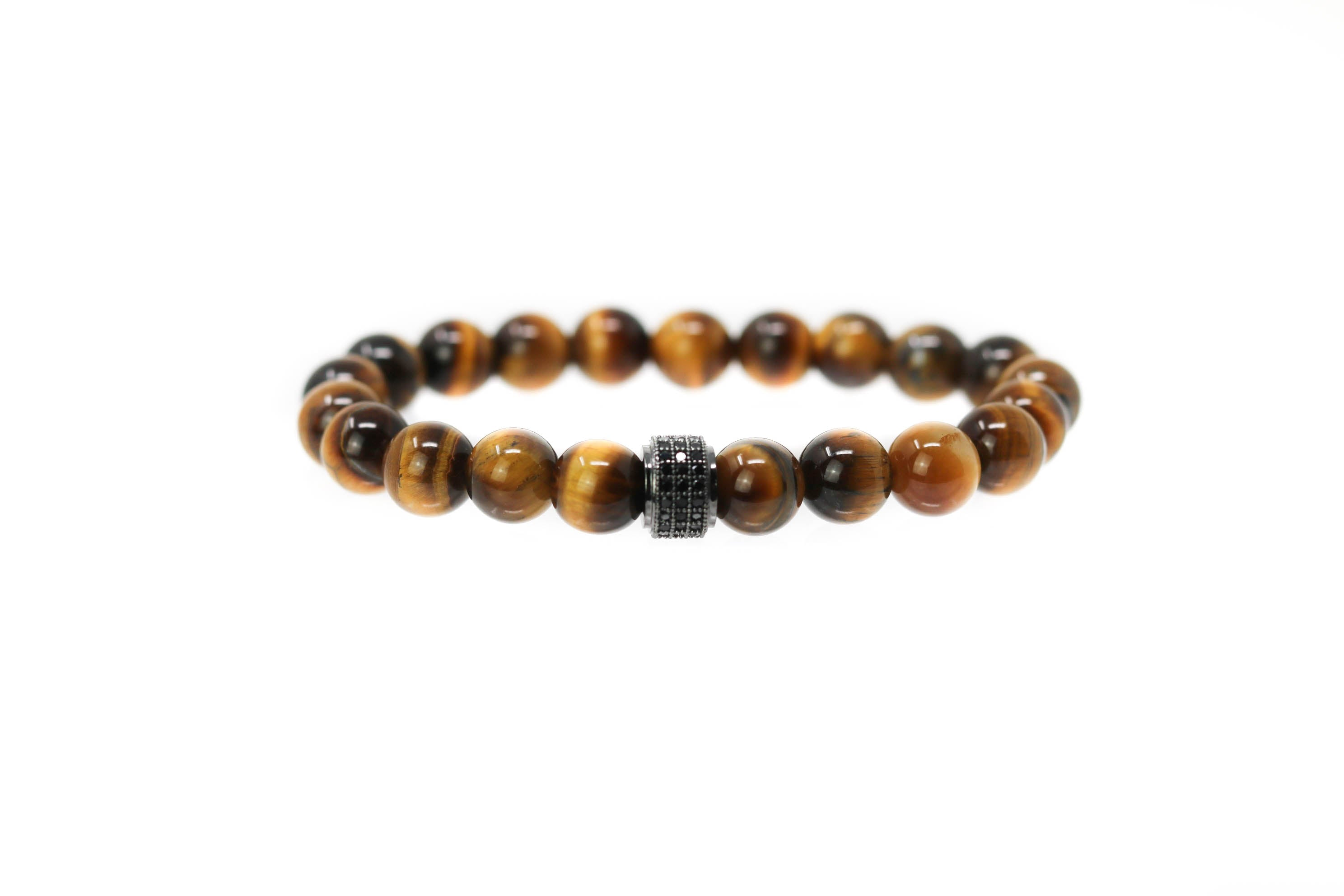 Black Tiger Tiger Eye Bracelet for men