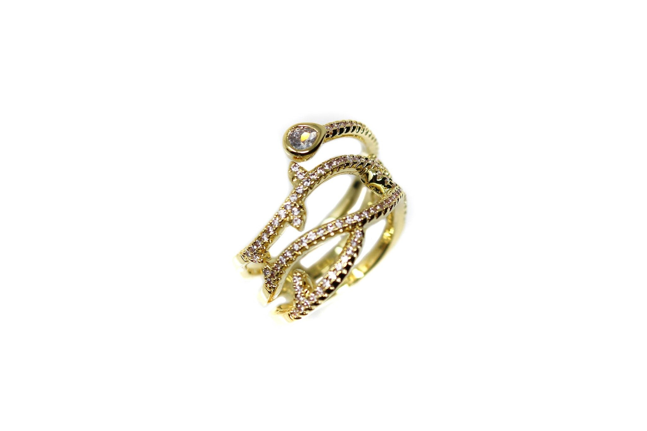 Gold Crystal Gold Ring