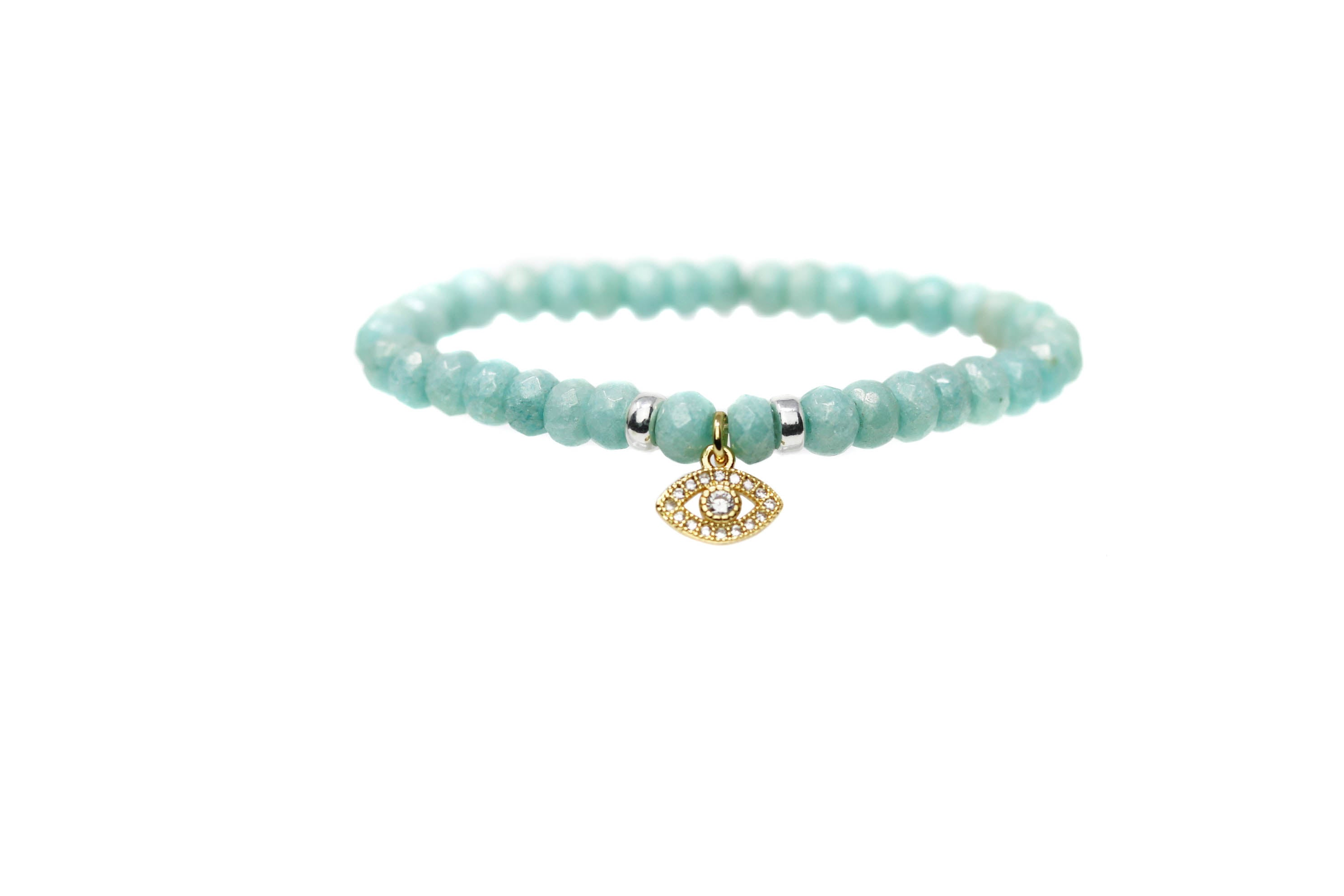 Golden Eye Turquoise Evil Eye
