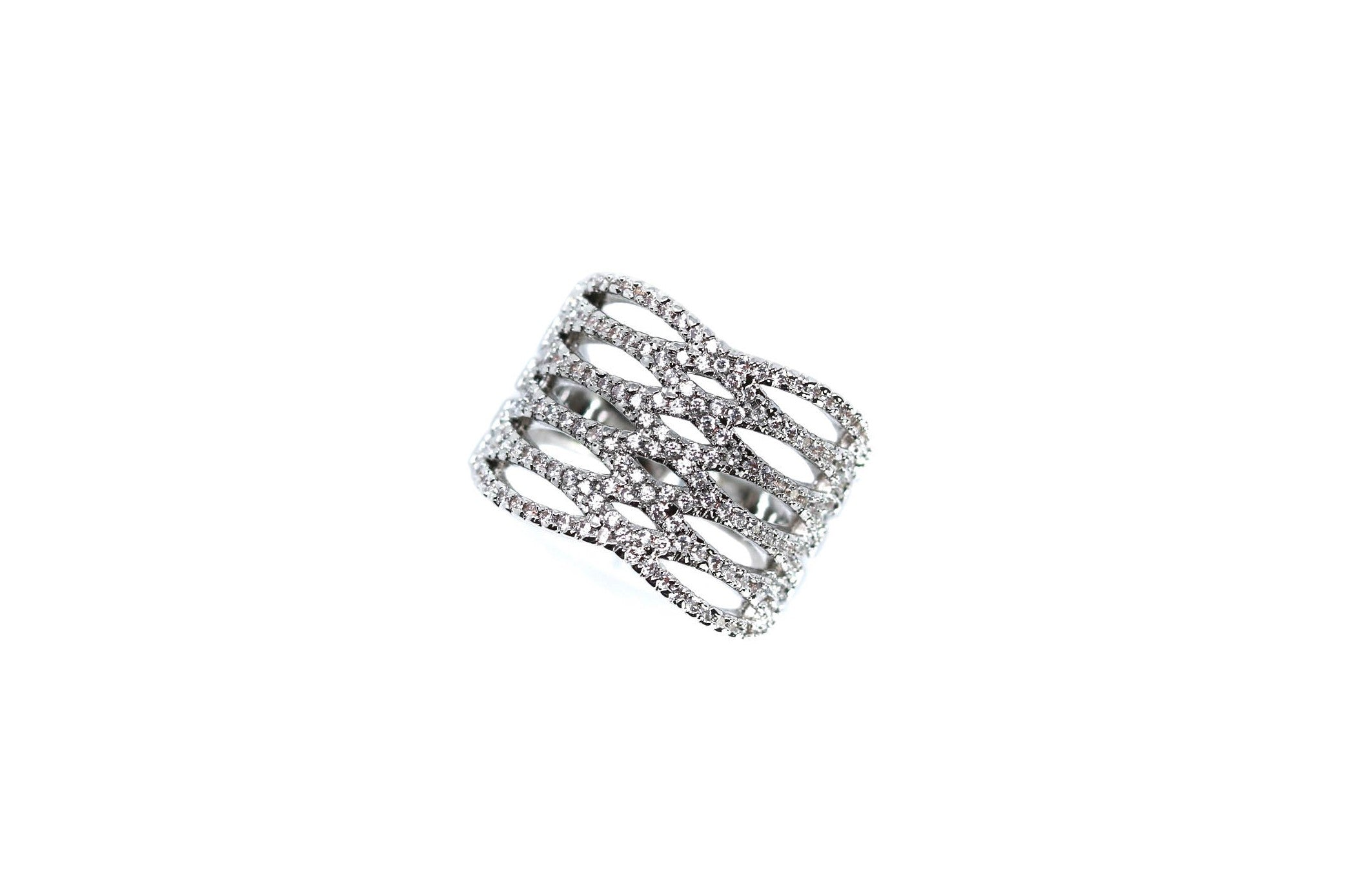 Infinity Crystal Silver Ring