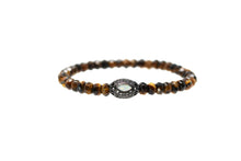 Load image into Gallery viewer, Mens Tiger eye bracelelt