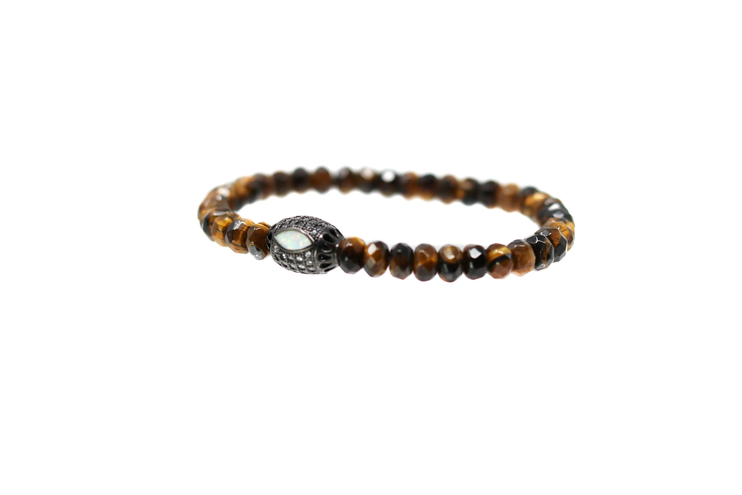 Opal Eye Mens Tiger Eye Bracelet