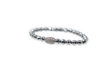 Load image into Gallery viewer, Silver Bead Bracelet
