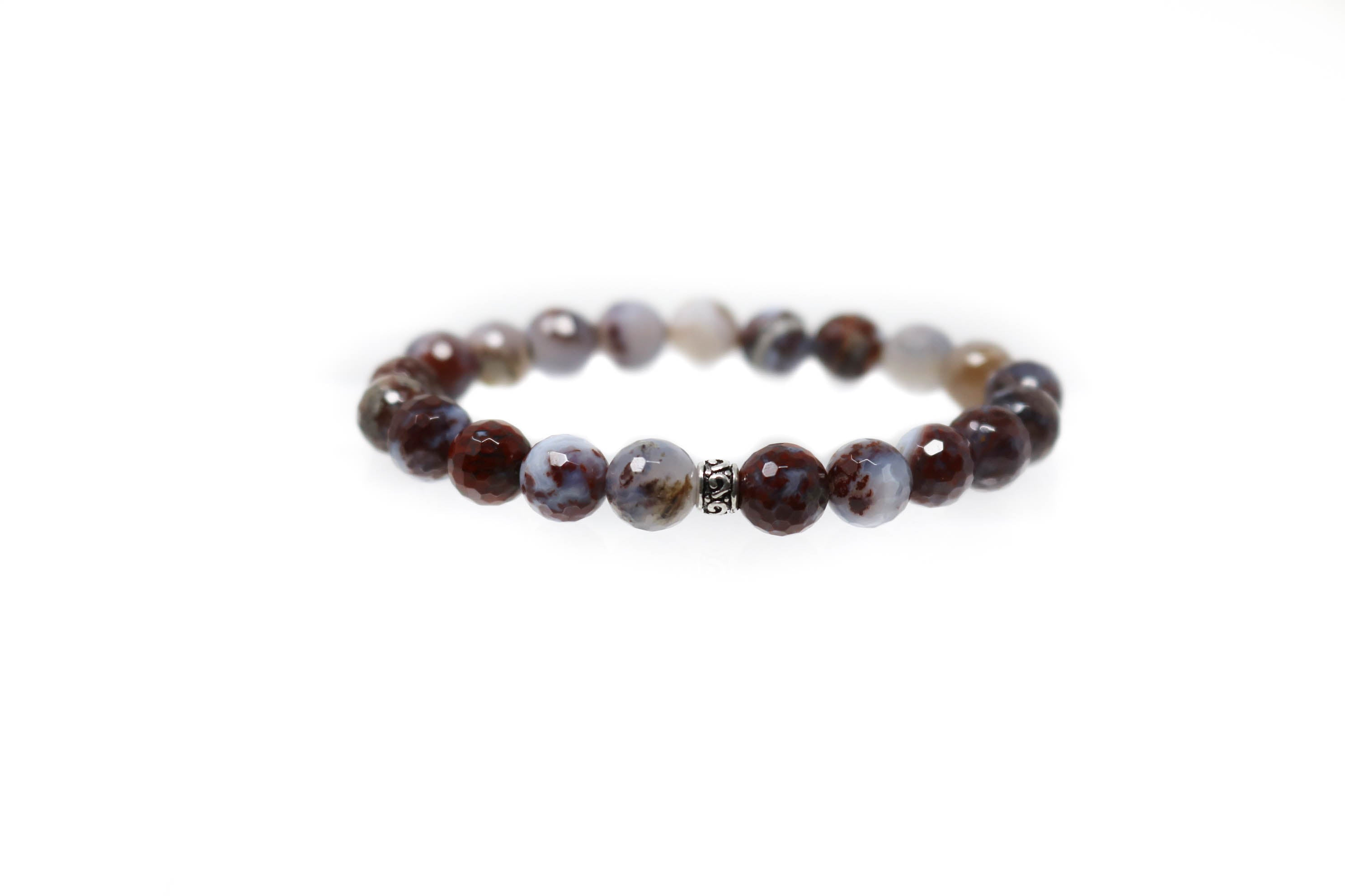 Natural Red Agate red agate bead bracelet