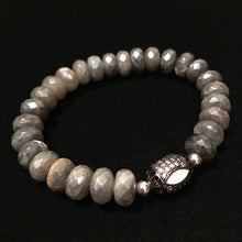 Load image into Gallery viewer, White Opal with Labradorite beads