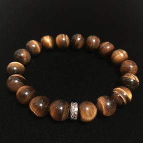 Pave Tiger Eye