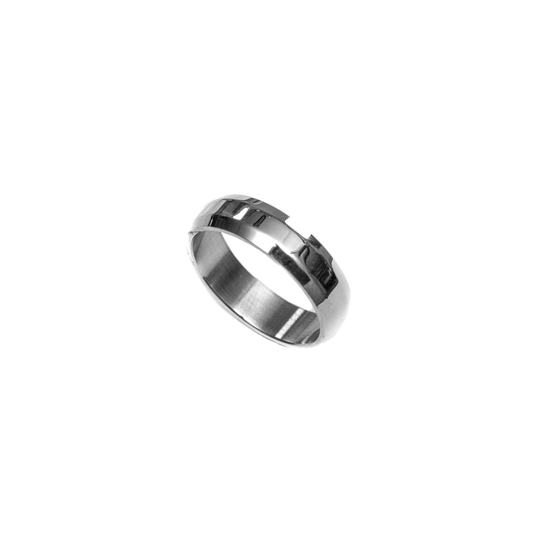 Classic Silver Silver Mens Ring