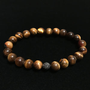 Tigers Eye Black Swarovski Diamond