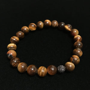 Tigers Eye Black Diamond