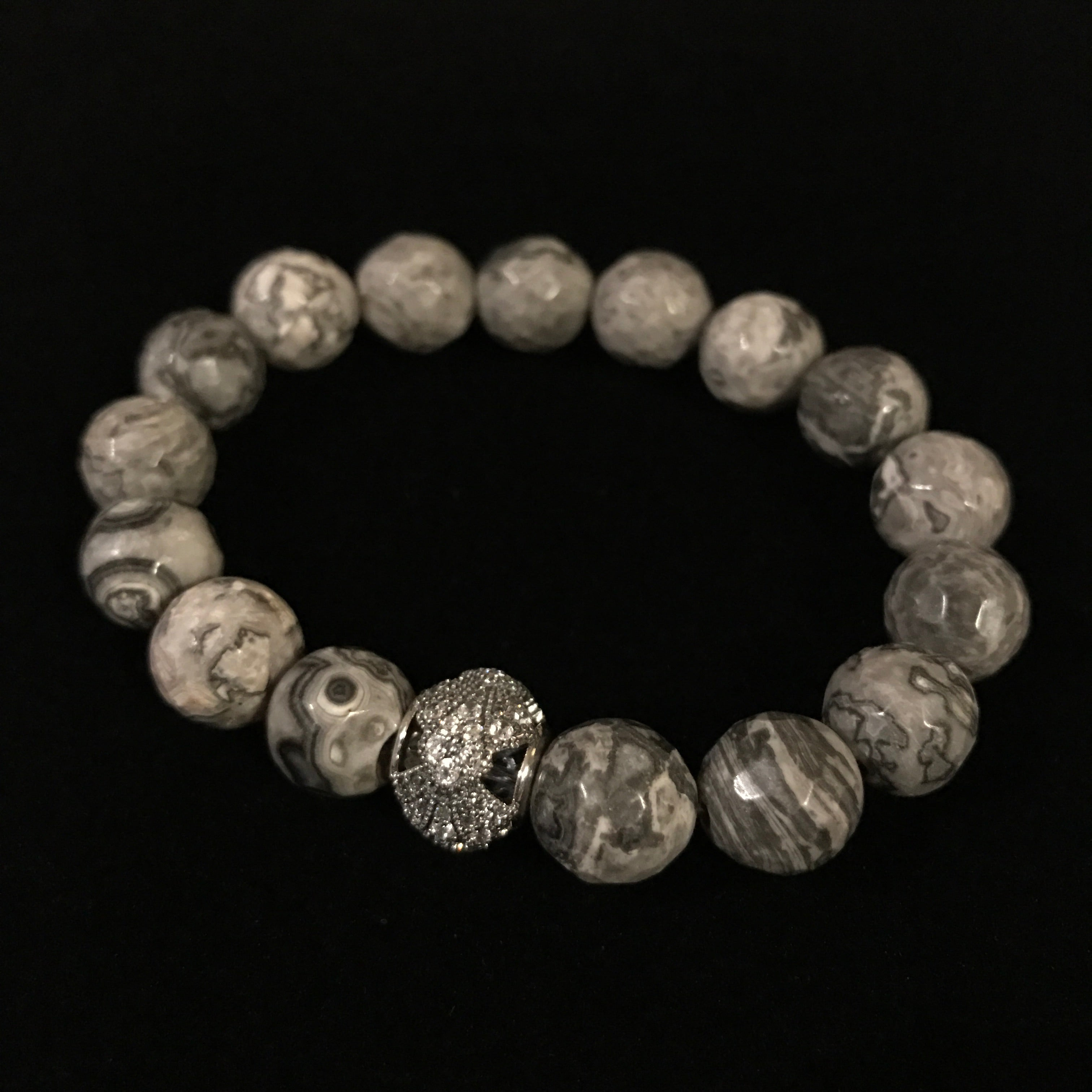 Picasso Crest Grey Beads