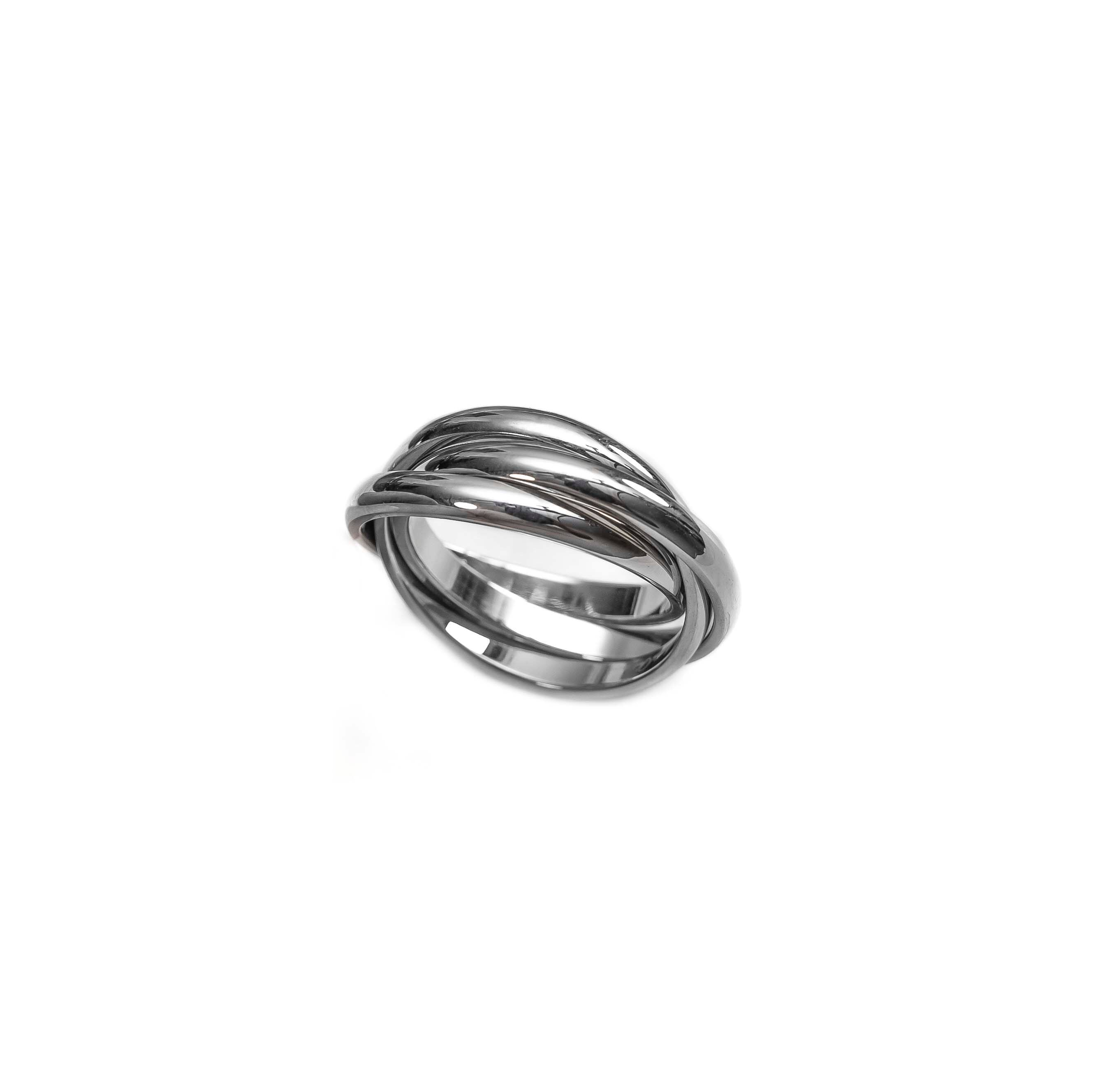 Silver Link Trinity Ring Silver