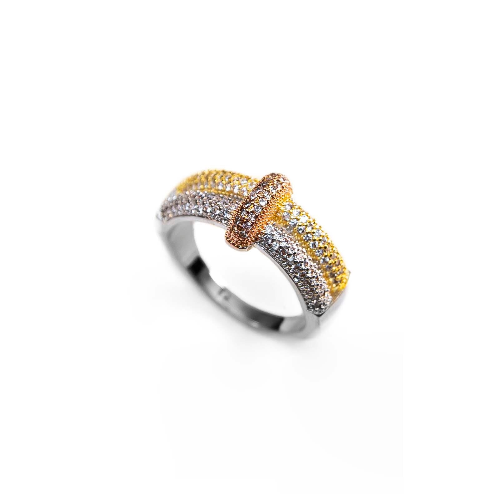 Pave Mix Gold, Rose, Gold, Silver Rings