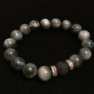 Grey Beads Black Diamonds