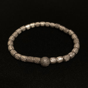 Silver Beads Pave Diamonds