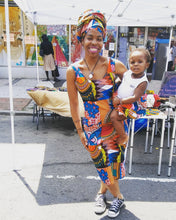 "Kannu Collection: ""The AfriCon"" Ankara Contour Tank Dress"