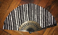 Black and White Tribe Ankara Handmade Chuuuch Fan by Kannu Collection