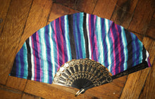 Striped Ankara Handmade Chuuuch fan by Kannu Collection