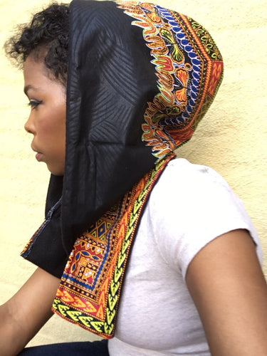 Kannu Collection Winter Crown - Ankara Hood