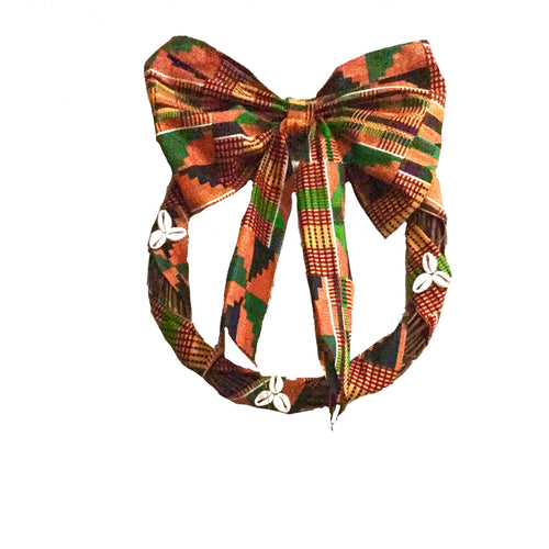ankara wreath with bow, home decor