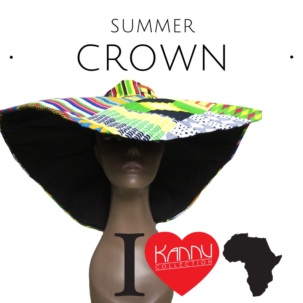 kannu collection: summer crown, ankara hat