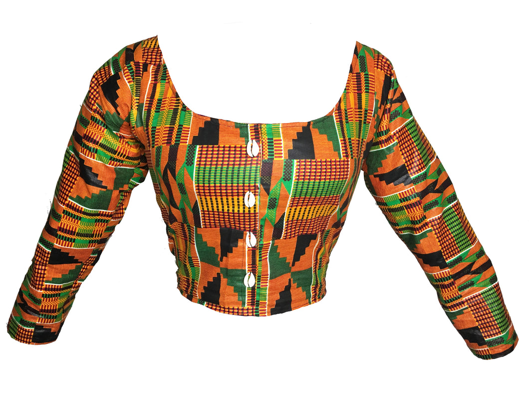 Kannu Collection: The Quin Handmade Ankara Wrap Crop Top