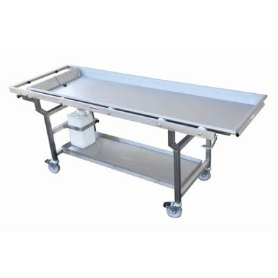 Roller 27″ Tray Autopsy Cart with Fluid Collection System – HA300