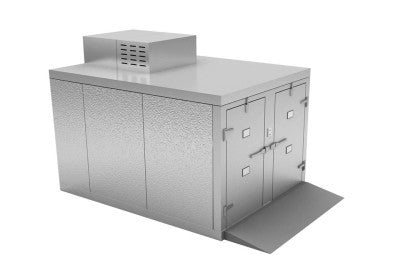 Four Body Roll-In Morgue Refrigerator, 23″ Tray – KB200