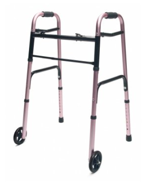 Lumex ColorSelect Adult Walker with Wheels - Pink