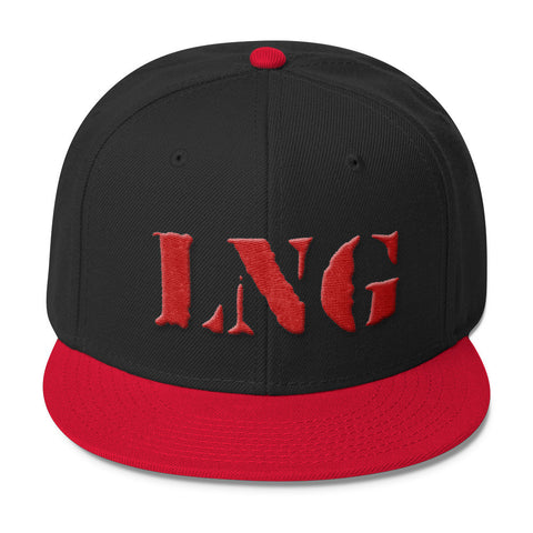 LNG 3D PUFF SNAPBACK BLACK/RED