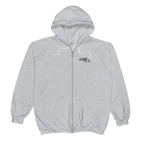 STAY BENT HEATHER ZIP UP HOODIE
