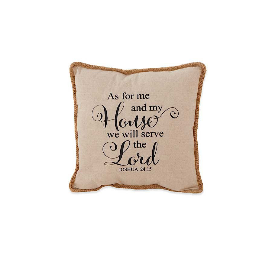 JOSHUA 24:15 LINEN PILLOW