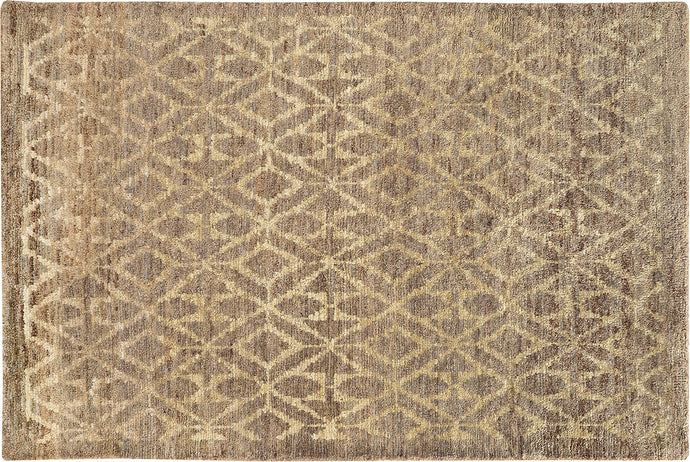 DIAMOND TAUPE & BEIGE AREA RUG  3' 6