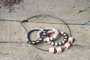 Minimalist Christian Jewelry | Brass, Czech Glass and Wood Beads