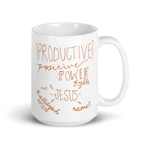 "POWER""FULL"" IN JESUS NAME COFFEE MUG"