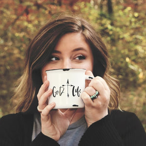 Ceramic Coffee Mugs by God Life  - Hand lettering design
