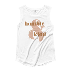 HUMBLE & KIND LADIES' CAP SLEEVE T-SHIRT