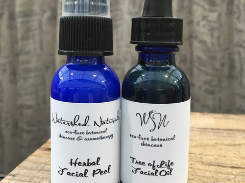 Set Special: Herbal Facial Peel & Tree of Life Facial Oil
