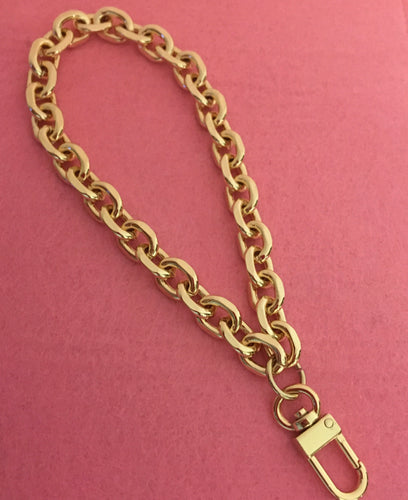 Chain Wristlet Gold (11mm) Rolo Diamond Cut