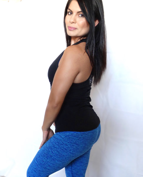 Lux Active Athletic Leggings in Blue