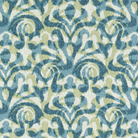 72089-601 Davi, Aqua/Green Duralee Fabric - Charleston Fabric
