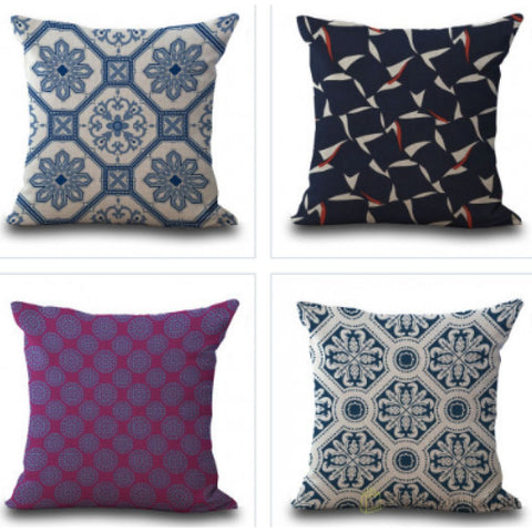 Abstract Pillow Cases - Charleston Fabric
