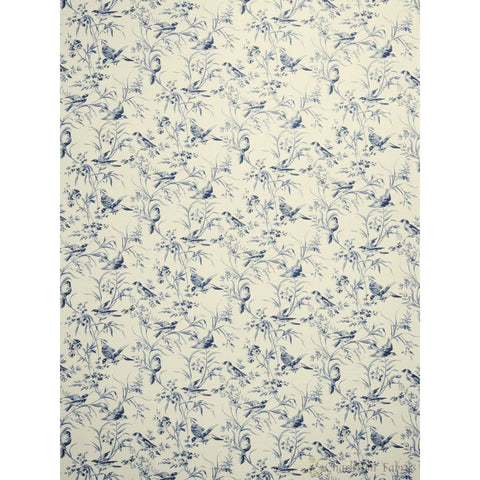 Charleston Adelise Indigo Animal Fabric - Charleston Fabric