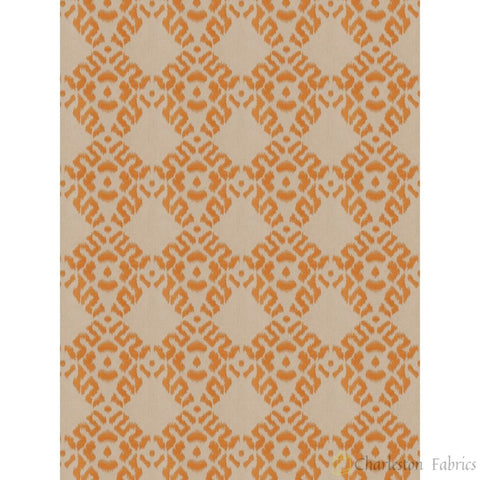 Charleston Arkose Diamond Curry Diamond Fabric - Charleston Fabric