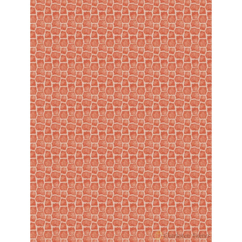 Charleston Caldara Coral Animal Fabric - Charleston Fabric