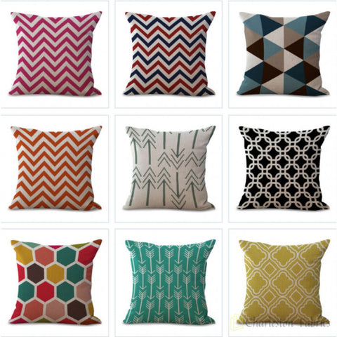Charleston Fabrics Abstract Geometry Pillow Cases Only
