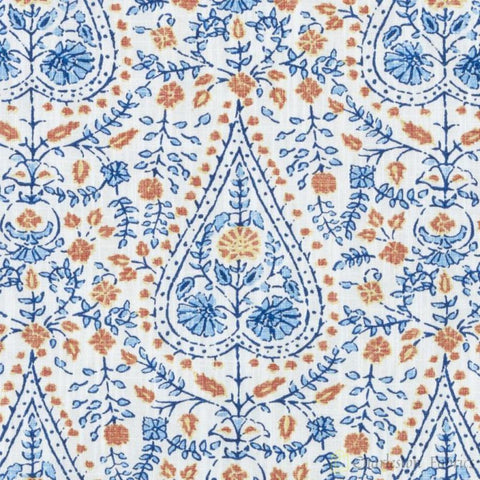 De42511-5 Busun Blue Duralee Prints Fabric