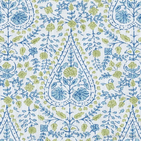De42511-601 Busun Aqua/green Duralee Prints Fabric