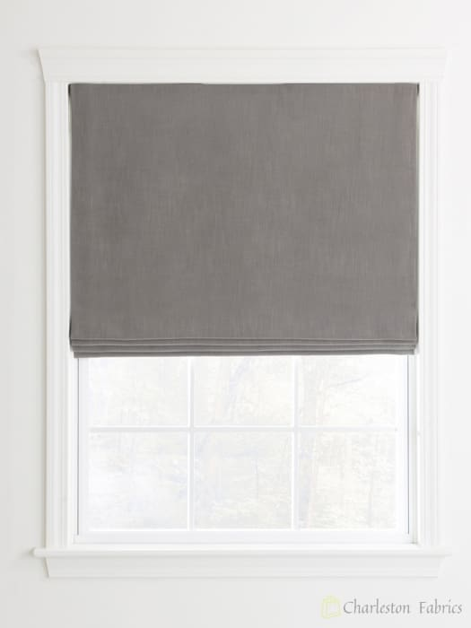 Flat Custom Roman Shades For Your Home Office Charlestonfabric Com